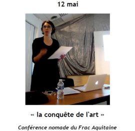2015 Conférence Frac : la conquête de l'art, Camille de Singly