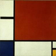 """""""Composition II en rouge, jaune bleu"""", Piet Mondrian, 1930 ; Centre Pompidou, Paris"""