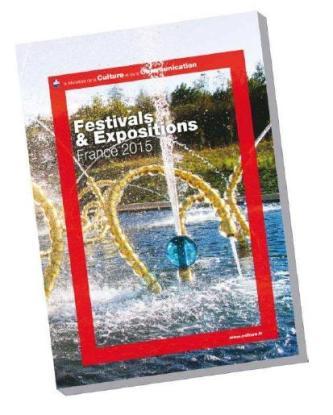 Couverture du guide des festivals et expositions de l'été 2015 du ministère de la Culture