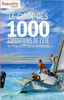 """Couverture du """"guide des 1000 expositions de l'été en France et dans le monde""""."""