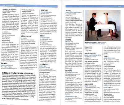 Encart Biennale EpHémères, p 108 dans les expos du sud ouest de la France