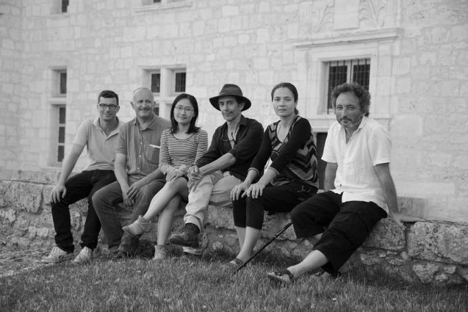 Les 6 artistes de la Biennale EpHémères 2015 ; de G à D : Pierre Labat, Jean-Luc Bichaud, Yuhsin U Chang, Erik Samakh, Victoria Klotz, Christophe Gonnet