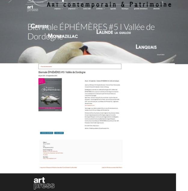 2015 EpHemeres sur site ArtPresse