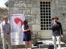 Gilles Bartoszek, directeur de la Cave coopérative de Monbazillac; Isabelle Pichelin directrice de l'Agence culturelle Dordogne-Périgord ; Erik Samakh
