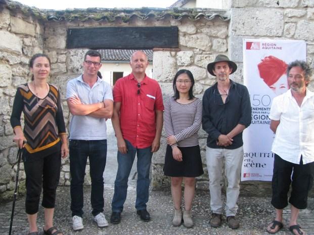les 6 artistes de la Biennale EpHémères #5 : Victoria KLOTZ, Pierre LABAT, Jean-Luc BICHAUD, Yushin U CHANG, Erik SAMAKH, Christophe GONNET.