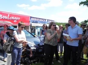 2015 Mme WOLFF, présidente de l'association des Rives de l'Art et Pierre LABAT (1)