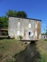 """2015 vernissage au moulin de la Guillou, à Lalinde, de """"Corridor"""", oeuvre de Jean-Luc BICHAUD (1)"""
