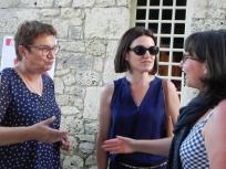 Régine Anglard, vice- présidente chargée de la culture, Conseil départemental de la Dordogne, Isabelle Pichelin, directrice de l'Agence Culturelle Dordogne-Périgord Cécile Bienes, responsable d'unité, Direction de la Culture, Conseil régional d'Aquitaine,