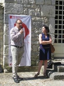 Mr BARTOSZEK, directeur de la cave de Monbazillac et Isabelle Pichelin, directrice de l'Agence Culturelle Dordogne-Périgord.