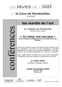 2015 Conf C Vilatte Marché de l'art