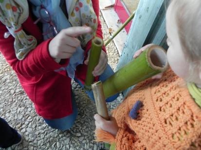 Tiens tiens ! Ces 2 bambous n'émettent pas le même son !