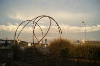 """""""Le Libre"""", Pierre LABAT ; rond-point de la Nauve, Creysse ; Biennale EPHEMERES 2015"""