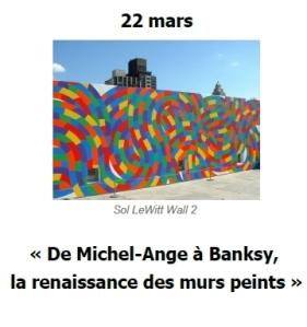 2016 Conference De Michel-Ange à Banksy murs peints