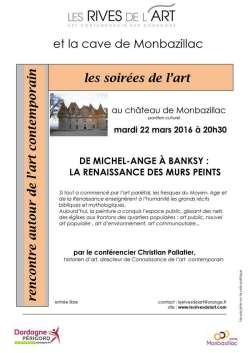 """2016 Conference """"murs peints"""" Ch Pallatier ; affiche"""