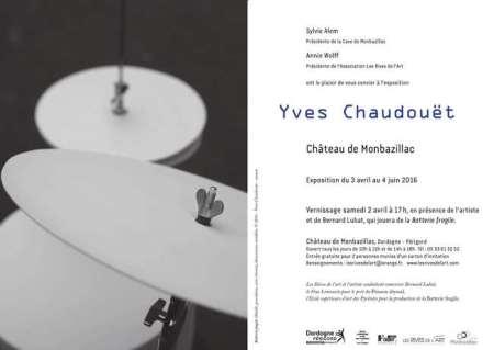 2016 Exposition Yves Chaudouët carton invitation