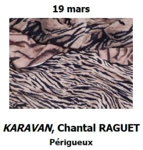 2016 Sortie culturelle Périgueux expo KARAVAN Chantal RAGUET