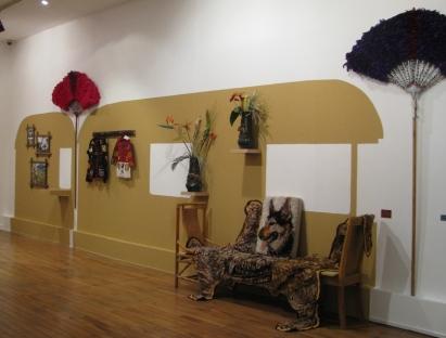 """""""Roulotte EXOTICA BAMBOULA"""", Chantal RAGUET ; exposition KARAVAN, Espace culturel François Mitterrand, Périgueux, 2016"""
