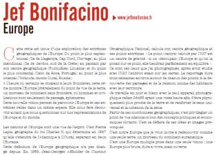 """expo """"EUROPE"""" Jef BONIFACINO, dans l'espace St REMI, texte extrait du Dossier de presse-Agence Révélateur, 26e ITINÉRAIRES DES PHOTOGRAPHES VOYAGEURS BORDEAUX 2016"""