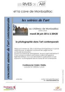 2016 28 juin, Conférence photographie contemporaine, Cédric Vilatte