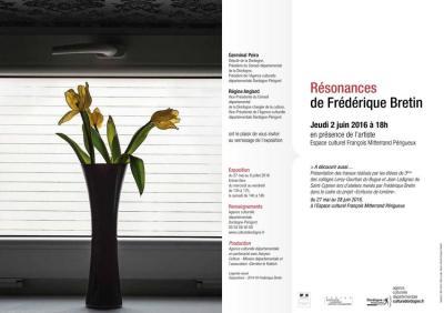 2016 Frédérique BRETIN Expo Résonances Espace François Mitterand Perigueux