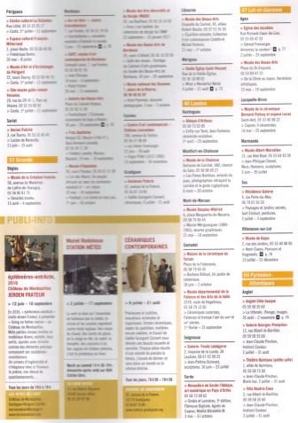 2016 Parcours des arts agenda
