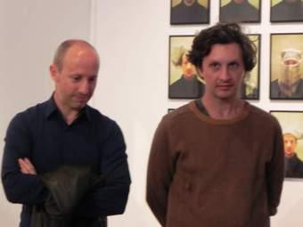 """Les artistes Florent LAMOUROUX et Sylvain BOURGET, vernissage """"Gens d'ici, Gens d'ailleurs"""", château de Monbazillac, 14 octobre 2016 ©Les Rives de l'Art"""