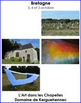 Sortie culturelle en Bretagne ; l'Art dans les Chapelles, Domaine de Kerguéhennec