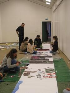 """2016 atelier """"une fresque """" avec Guillaume HILLAIRET"""