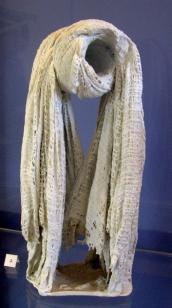 """""""grand noeud"""", Nicole Giroud, porcelaine,textile"""