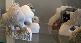 """""""les arbres"""", Roselyne Pouré, porcelaine, émaillage"""