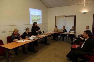 Mme WOLFF, présidente de l'association prend la parole