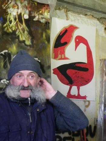 """2017 Jean-François Noble devant ses """"oies"""""""