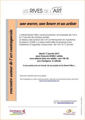 2017 Rencontre avec Jean-François NOBLE, Journée de l'Art 17 janvier