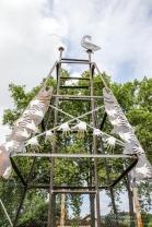 """""""Saumon becquart à l'échelle du ciel""""par les apprentis-chaudronniers du Lycée des Métiers Sud Périgord de Bergerac"""