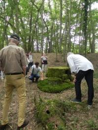 Benoît Schmeltz est intarissable sur les mousses qui couvrent et entourent son œuvre.