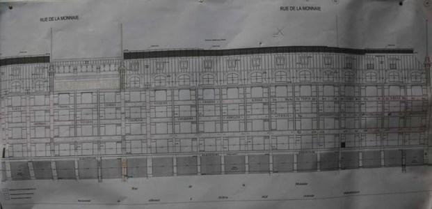 Plan de la façade de la SAMARITAINE