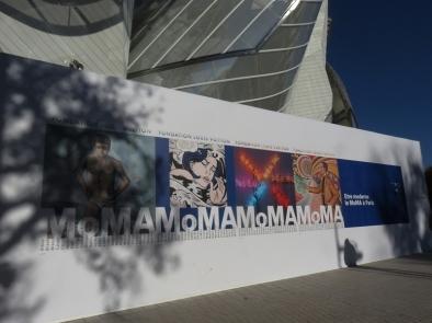 2017 entrée de l'exposition MoMA à la Fondation Louis Vuitton