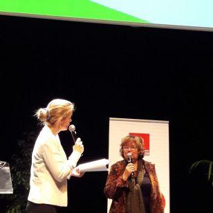 Raphaëlle Burel, journaliste s'entretient avec Annie Wolff avant la remise du 2nd Prix national du FME
