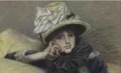 James Tissot, Berthe, crayon graphite