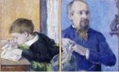 Paul Gauguin, le sculpteur Aubé et son fils Emile
