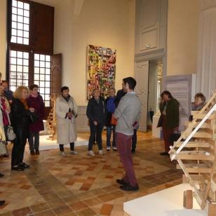 2018 visite de l'exposition au château de Biron (2)