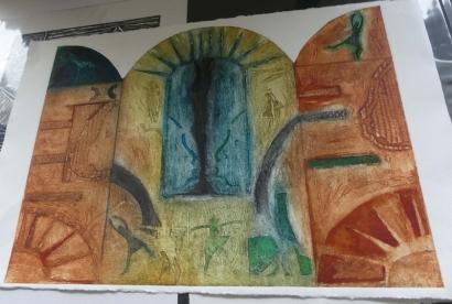 2019 visite de l'atelier de Rosario MARRERO (11)