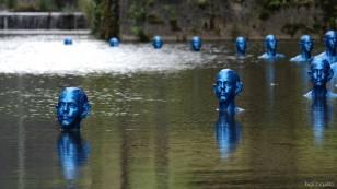 Where the tides ebb and flow, Pedro Marzorati ; DR photo©bigChiquitito/ADAGP ; Biennale épHémères 2019 #7, écluses de Tuilières à Mouleydier (Dordogne) pour Les Rives de l'Art