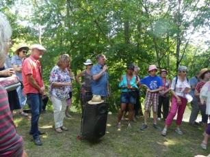 2019 vernissage à Tuilières avec rosario (2)