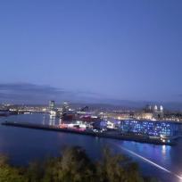 2019 Marseille, la nuit ,vue depuis l'esplanade du Pharo, (3)